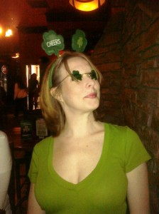 Laura on St. Patrick's Day 2010