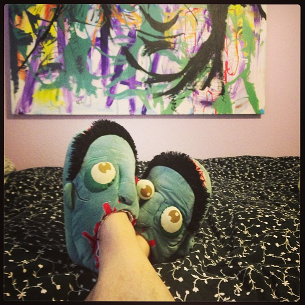 Douglas Adams and zombie slippers