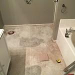 Cleared master bath floor