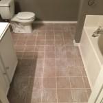 Finished tile floor